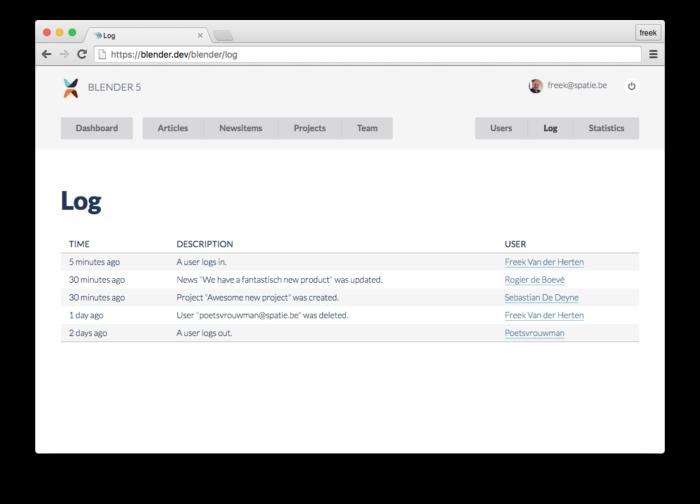 A package to log activity in a Laravel app - Freek Van der