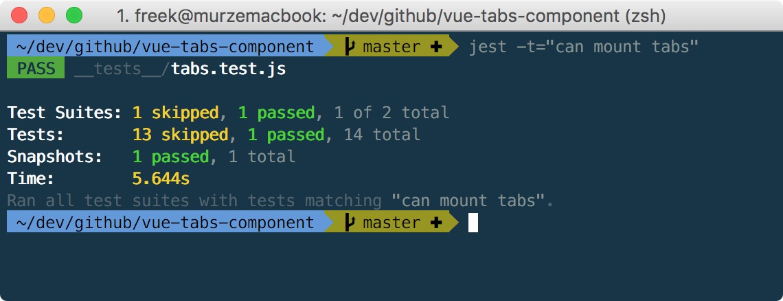 Testing a Vue component part 2: the first test and snapshots - Freek