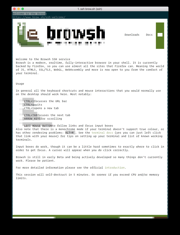 Browsh homepage