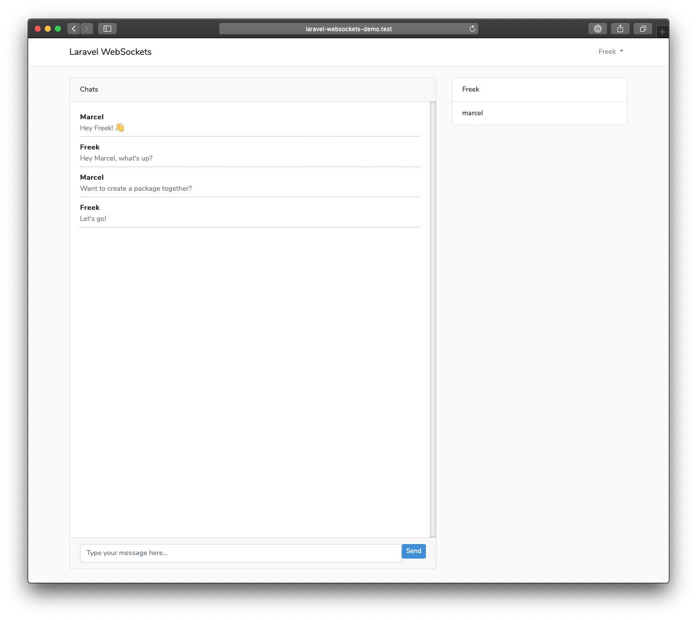 Introducing laravel-websockets, an easy to use WebSocket