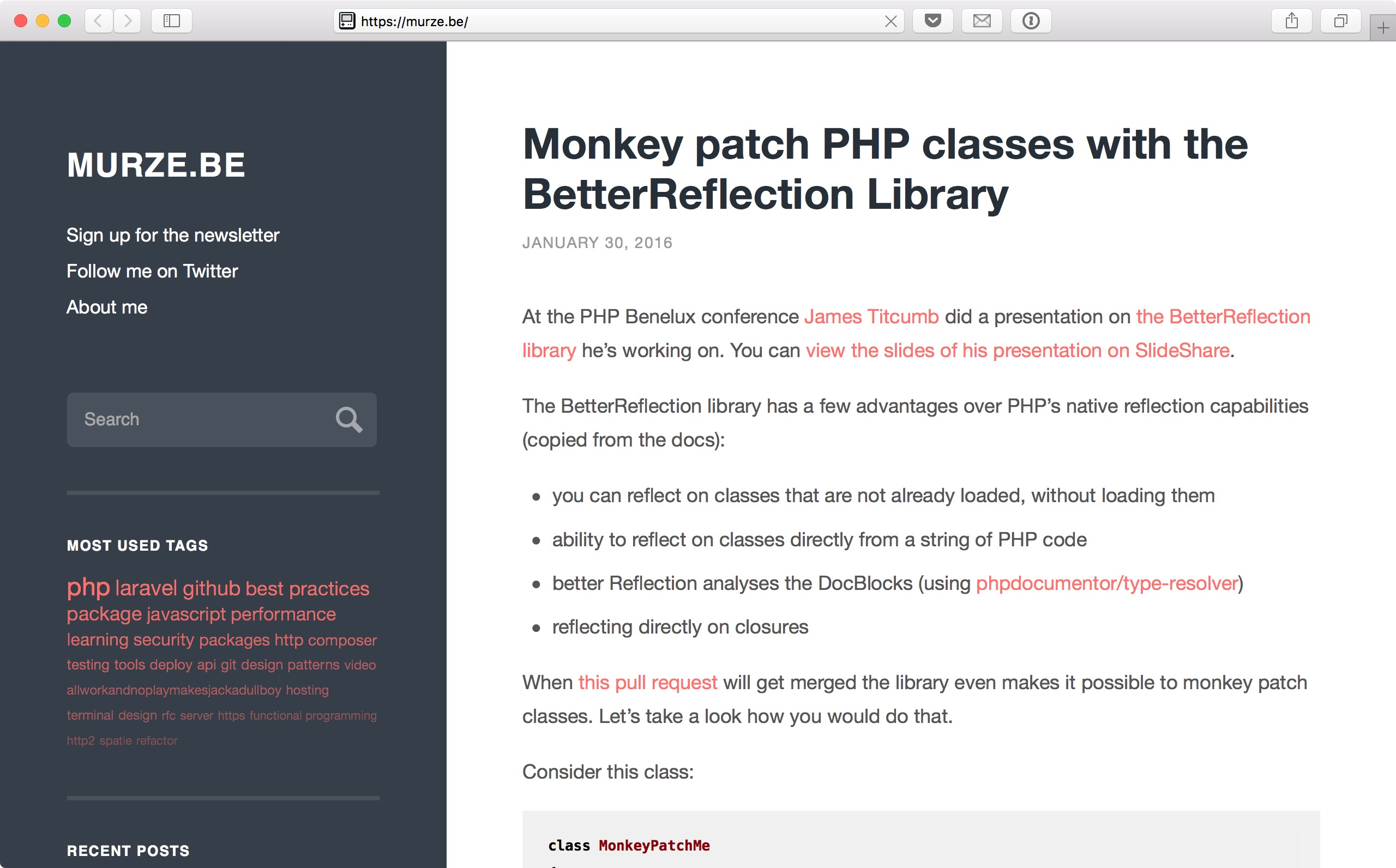 On migrating my blog from WordPress to a Laravel application