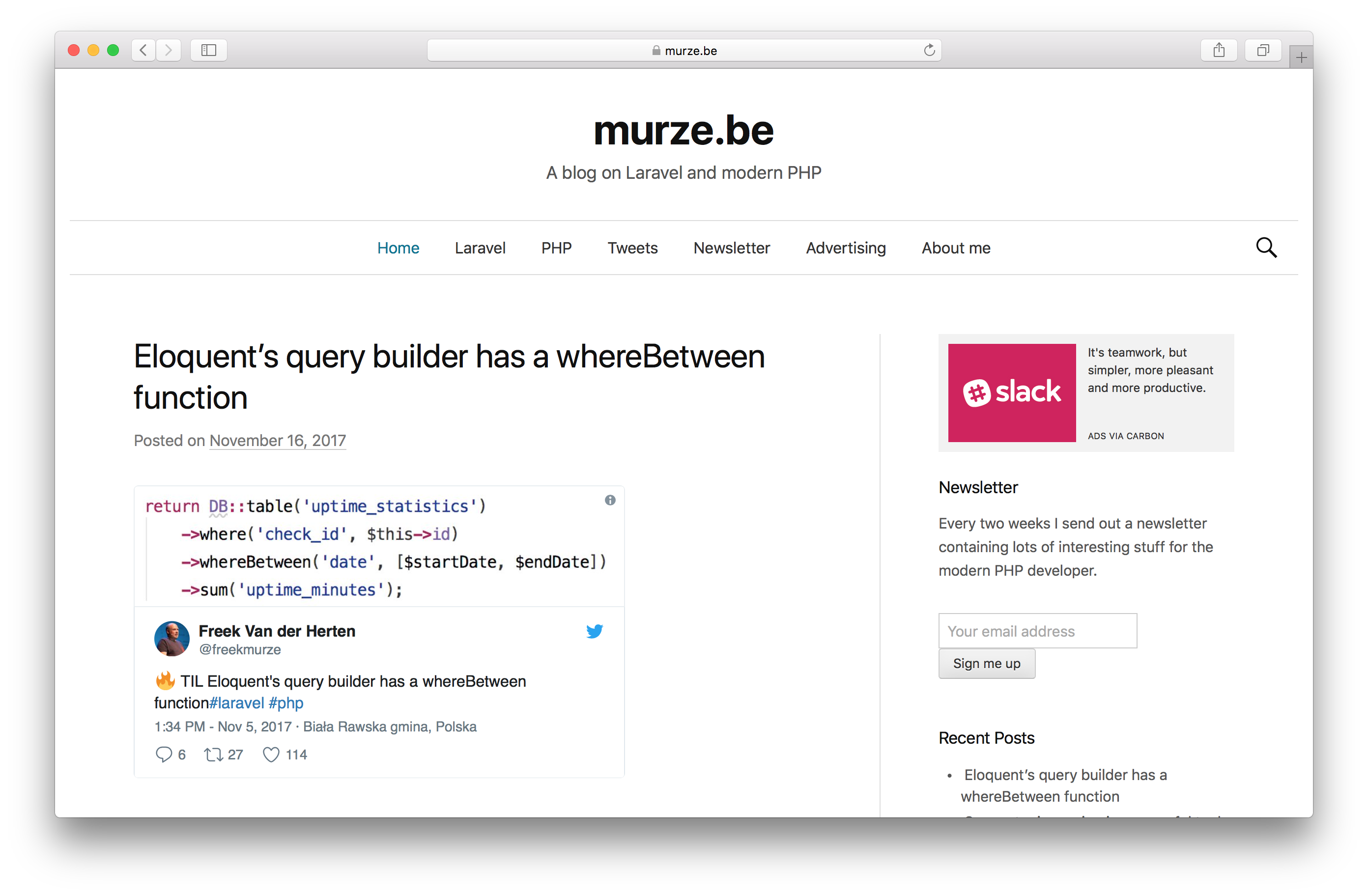 Screenshot of murze.be